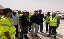 A visit to follow the project of the administrative building of the Authority in the state of Diba 2019